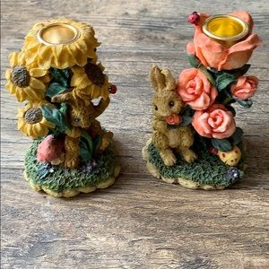 "Other - Pair of vintage ""Bunny"" candle holders"